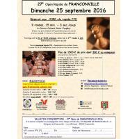27e Open de Franconville le dimanche 25 septembre 2016