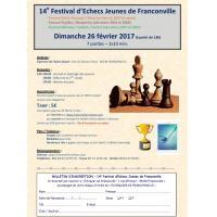 14e Festival d'Echecs Jeunes de Franconville - Dimanche 26 février 2017