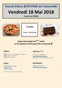 Tournoi Blitz-Pizza - Vendredi 18 mai 2018 à 19h30