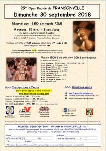 29e Open de Franconville Homologué Rapide FIDE/FFE (-2350 elo)
