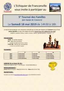 5e Tournoi des Familles - Samedi 18 mai 2019 (14h30-18h)