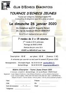 Tournoi Jeunes Ermont - Dimanche 26 janvier 2020