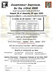 Chpt Individuel du Val d'Oise 2020 - ANNULE